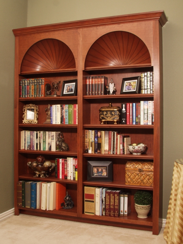 Cherry Arch Top Bookcase